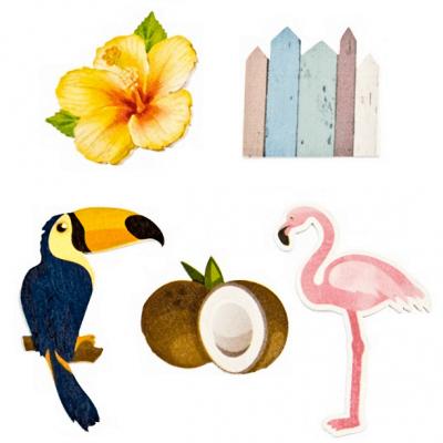Confettis de table en bois tropique (x10) REF/DEC903