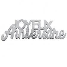 Confettis de table joyeux anniversaire argenté métallisé en bois (x10) REF/7405