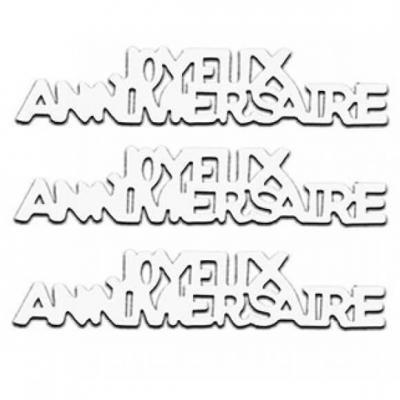 Confettis de table Joyeux Anniversaire en papier blanc 12grs (x1) REF/CA00PBA
