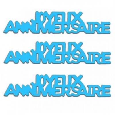 Confettis de table Joyeux Anniversaire en papier bleu 12grs (x1) REF/CA00PB