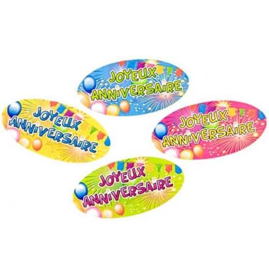 Confettis de table joyeux anniversaire multicolore