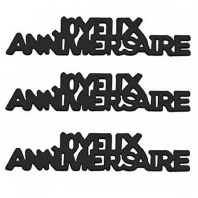 Confettis de table Joyeux Anniversaire en papier noir 12grs (x1) REF/CA00PN