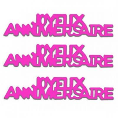 Confettis de table Joyeux Anniversaire en papier rose fuchsia 12grs (x1) REF/CA00PF