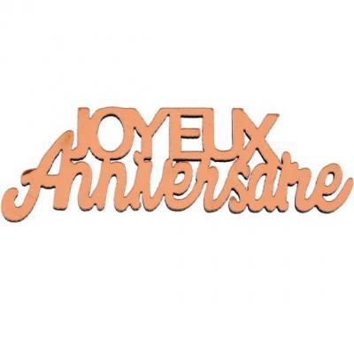 Confettis de table joyeux anniversaire rose gold métallisé en bois (x10) REF/7405