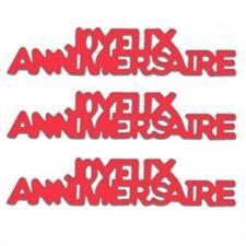 Confettis de table Joyeux Anniversaire en papier rouge 12grs (x1) REF/CA00PRP