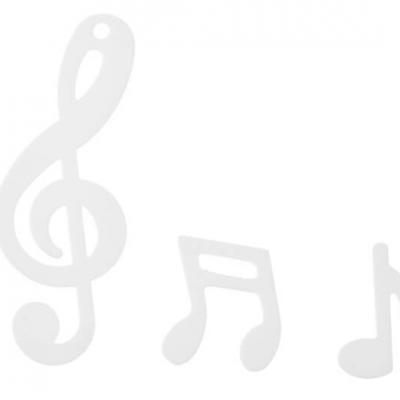 Confettis de table musique blanc (x20grs) REF/70461