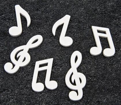 Confettis de table musique blanc