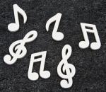 Confettis de table note musique blanc (x24) REF/DEC467