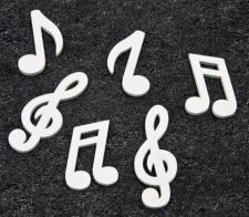 Confettis de table musique blanc en bois (x24) REF/DEC467