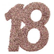Confettis de table anniversaire 18 ans rose gold pailleté (x6) REF/7306
