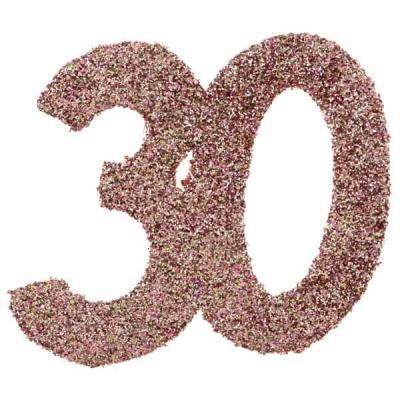 Confettis de table anniversaire 30 ans rose gold pailleté (x6) REF/7306