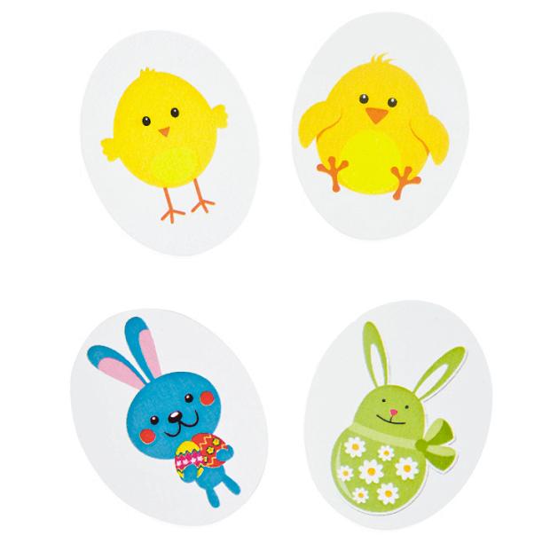 Confettis de table paques lapin et poussin