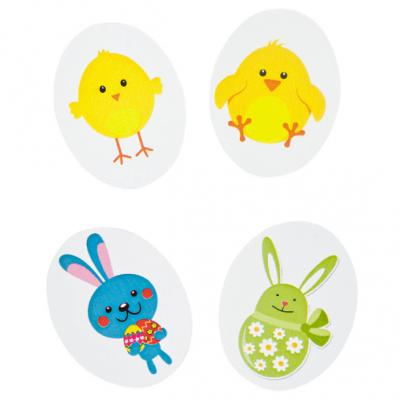 Confettis Pâques: Lapin et poussin (x48) REF/DEC813