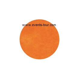 Confettis de table rond orange 1