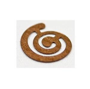 Confettis de table spirale marron