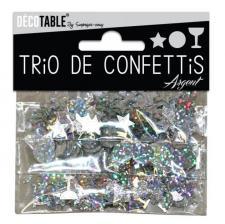 Confettis étoiles, ronds et coupes: Argent (x1) REF/TC00A