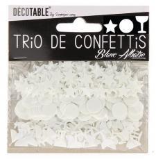 Confettis étoiles, ronds et coupes: Blanc (x1) REF/TC00BA