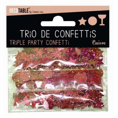 Confettis étoiles, ronds et coupes: Cuivre (x1) REF/TC00CU