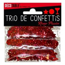 Confettis étoiles, ronds et coupes: Rouge (x1) REF/TC00R
