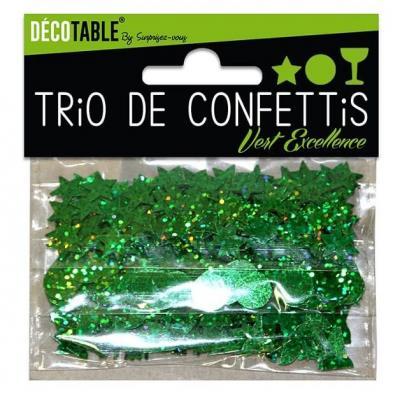 Confettis étoiles, ronds et coupes: Vert (x1) REF/TC00V