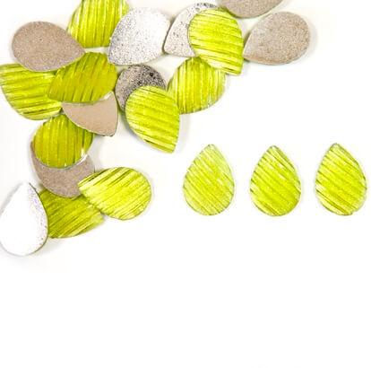 Confettis goutte d eau vert menthe