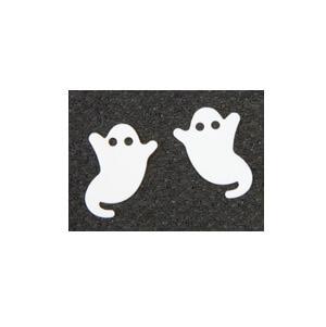 Confettis halloween fantome blanc