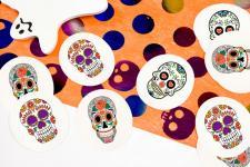Confettis Halloween: Têtes mexicaines (x9grs) REF/DEC787