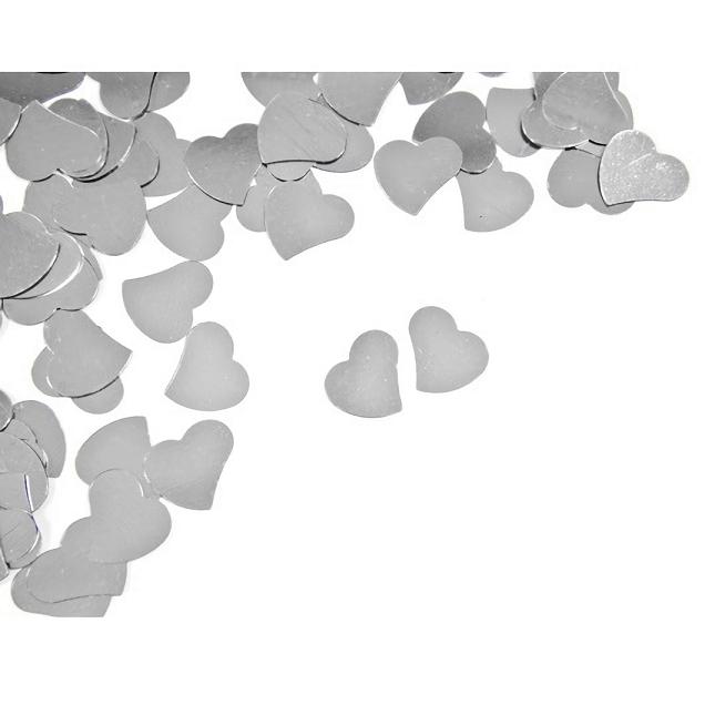 Confettis mariage coeur argent