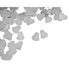 Confettis mariage coeur argent (x10grs) REF/DEC867