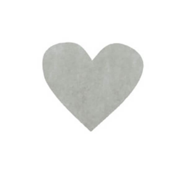 Confettis mariage coeur gris