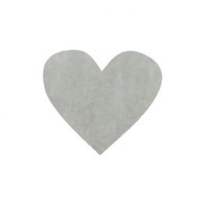 Confettis coeur gris (x100) REF/2973