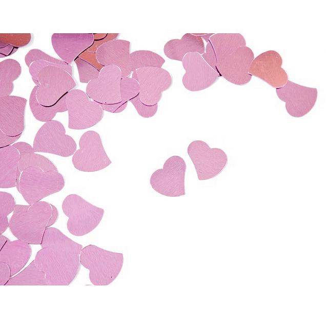 Confettis mariage coeur rose