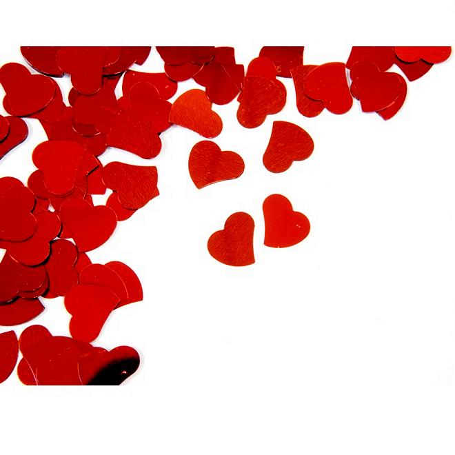 Confettis mariage coeur rouge