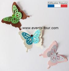 Double papillons avec strass (x10) REF/10443
