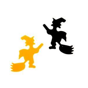 Confettis Halloween: Sorcière noir et orange (x10grs) REF/DEC613
