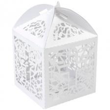 Boîte communion blanche irisée (x10) REF/CTU100