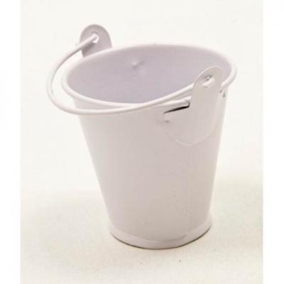 Petit seau métal blanc (x3) REF/BT1033
