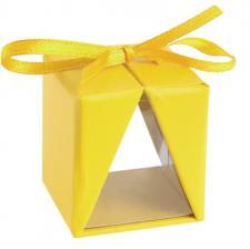 Contenant boîte cadeau jaune (x4) REF/4091