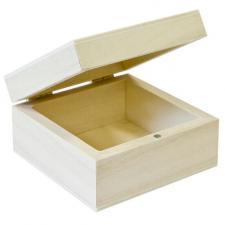 Contenant boîte en bois carrée (x1) REF/BT2607