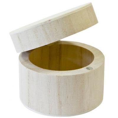 Contenant boîte en bois ronde (x1) REF/BT2608
