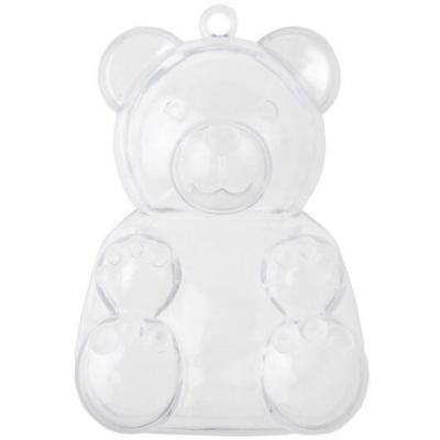 Boîte ours transparente (x4) REF/70021