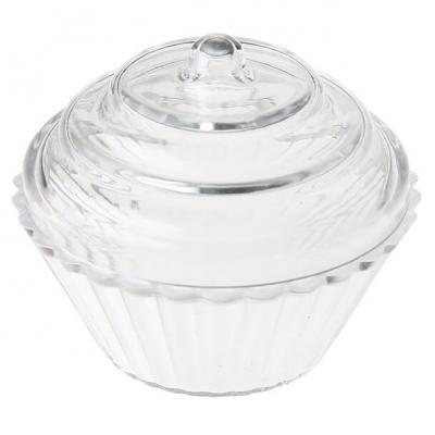 Contenant: Boîte transparente cupcake (x4) REF/4647