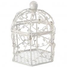Contenant bonbonnière cage blanc (x2) REF/3569