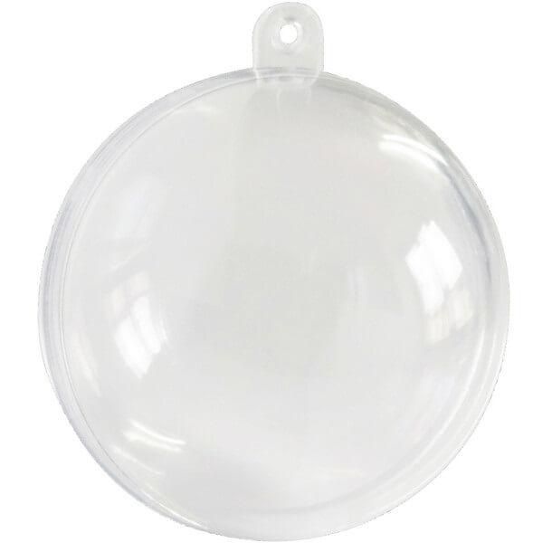 Contenant boule a dragee transparente 6cm