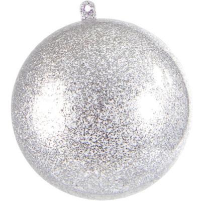 Boule pailletée argent 5cm (x1) REF/3628