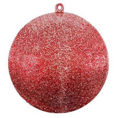 Boule pailletée rouge 5cm (x1) REF/3628