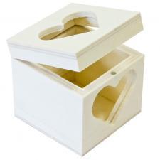 Contenant mariage boîte carrée coeur ajouré (x1) REF/BT2610