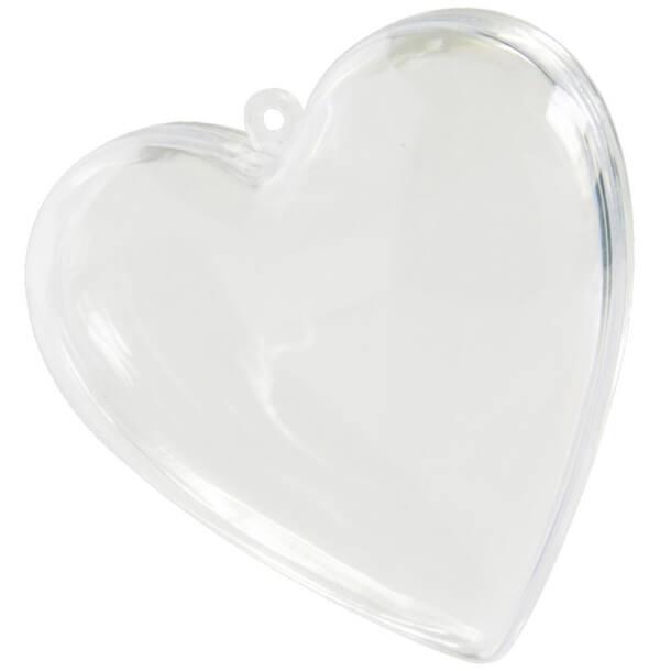 Contenant mariage coeur transparent pvc