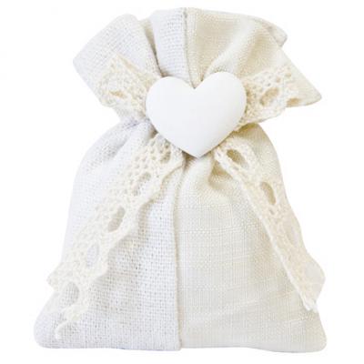Contenant sachet mariage coeur (x4) REF/SC432