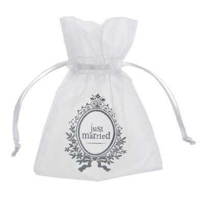 Contenant mariage sachet Just married (x10) REF/4531